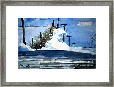 1978 Fourteen Foot Snow Drifts Double Matted Framed Print by Charlie Spear