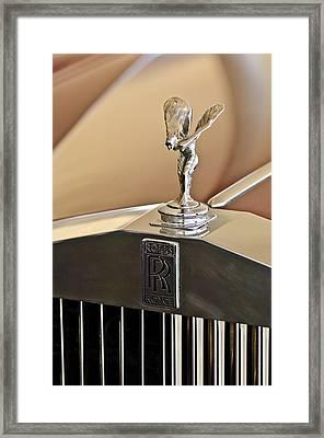 1978 Rolls-royce Hood Ornamaent Framed Print by Jill Reger