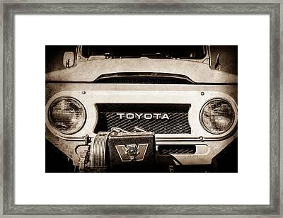 1978 Toyota Land Cruiser Fj40 Grille Emblem -0558s Framed Print by Jill Reger