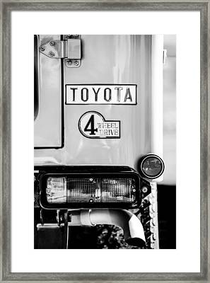 1978 Toyota Land Cruiser Fj40 Taillight Emblem -1191bw Framed Print by Jill Reger