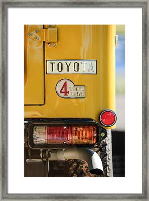 1978 Toyota Land Cruiser Fj40 Taillight Emblem -1191c Framed Print