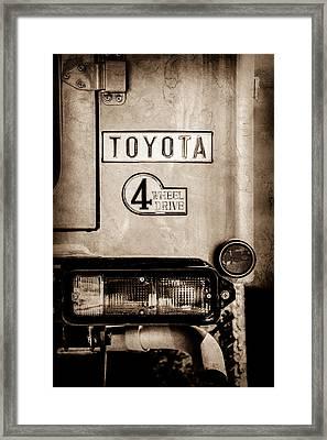 1978 Toyota Land Cruiser Fj40 Taillight Emblem -1191s Framed Print by Jill Reger