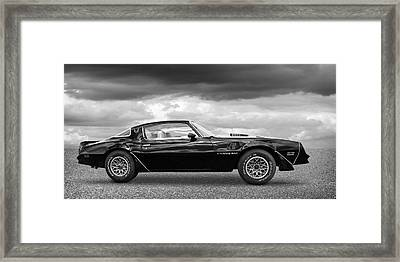 1978 Trans Am In Black And White Framed Print