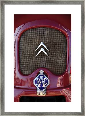 1979 Citroen 2cv Speedster Hood Ornament Framed Print by Jill Reger