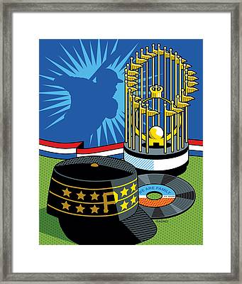 1979 Pirates Framed Print by Ron Magnes