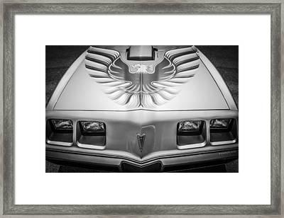 1979 Pontiac Trans Am Hood Firebird -0812bw Framed Print by Jill Reger