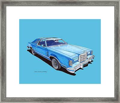 1979 Thunderbird Tee Shirt Art Framed Print