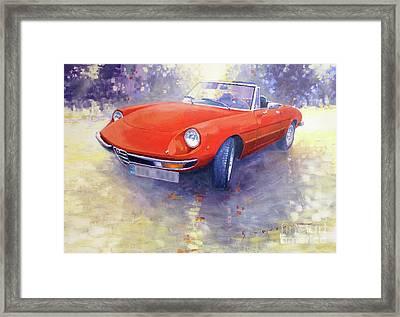1980 Alfa Romeo Spider 2000 Veloce  Framed Print by Yuriy Shevchuk