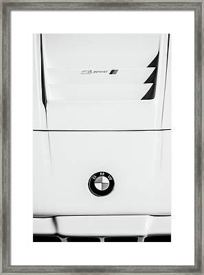 1980 Bmw M1 Ahg Hood Emblem -0292bw Framed Print by Jill Reger