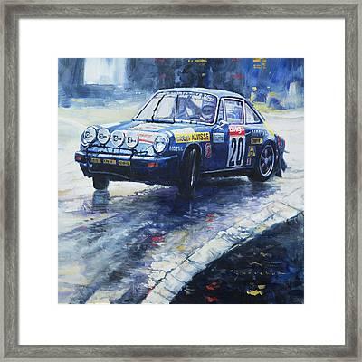 1980 Criterium Lucien Bianchi Porsche Carrera Keller Hoss #20 Framed Print