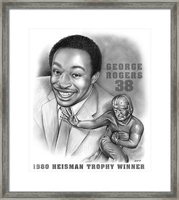 1980 Heisman Winner Framed Print by Greg Joens