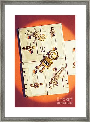 1980s Robot Dancer Framed Print