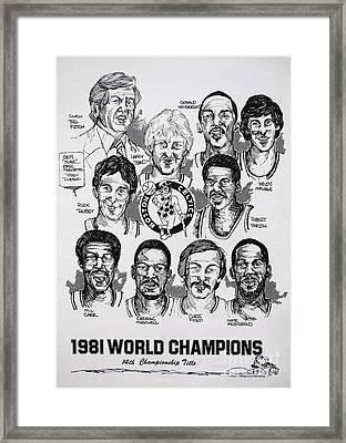1981 Boston Celtics Championship Newspaper Poster Framed Print