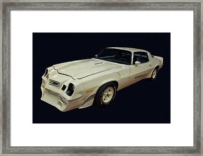 1981 Chevy Camaro Yenko Turbo Z Digital Oil Framed Print