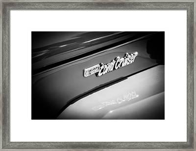 1982 Toyota Fj43 Land Cruiser Emblem -0491bw Framed Print by Jill Reger