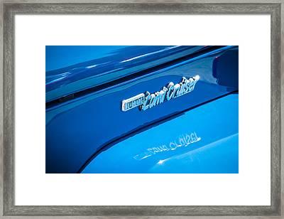 1982 Toyota Fj43 Land Cruiser Emblem -0491c Framed Print by Jill Reger