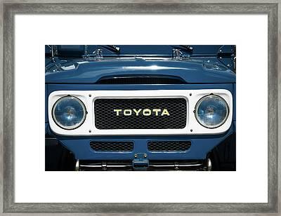 1982 Toyota Fj43 Land Cruiser Grille Emblem -0522c Framed Print by Jill Reger