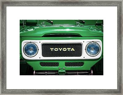 1982 Toyota Fj43 Land Cruiser Grille Emblem -0522g Framed Print by Jill Reger