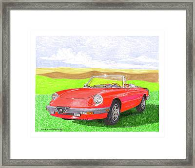 Framed Print featuring the painting 1983 Alfa Romero Spider Veloce by Jack Pumphrey