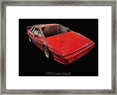 1984 Lotus Esprit Framed Print by Chris Flees