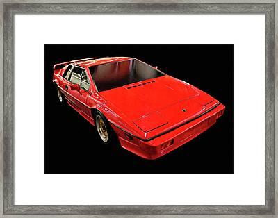 1984 Lotus Esprit Digital Oil Framed Print