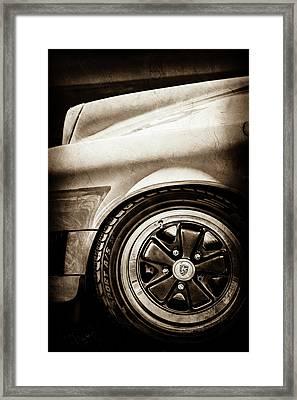 1984 Porsche 911 Carrera Wheel Emblem -2270s Framed Print