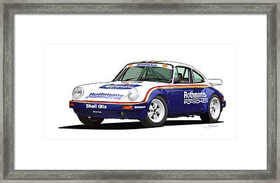 1984 Porsche 911 Sc Rs Illustration Framed Print by Alain Jamar