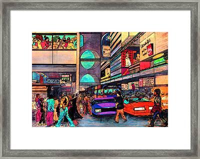 1984 Vision Of Times Square 2015 Framed Print by Jorge Delara