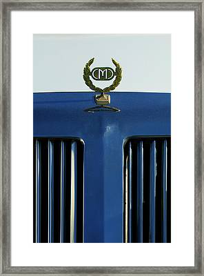 1985 Tiffany Coupe Hood Ornament Framed Print by Jill Reger