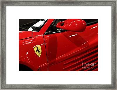 1986 Ferrari Testarossa - 5d20026 Framed Print by Home Decor