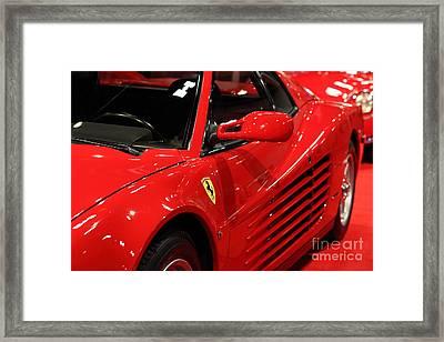 1986 Ferrari Testarossa - 5d20028 Framed Print by Home Decor