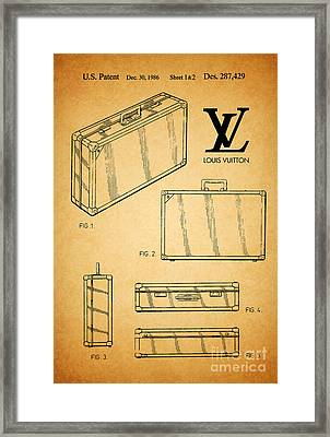 1986 Louis Vuitton Suitcase Patent 1 Framed Print