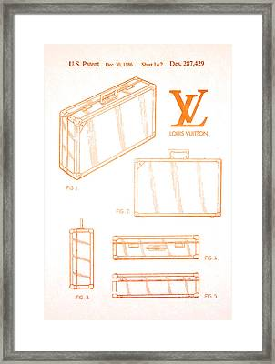 1986 Louis Vuitton Suitcase Patent 2 Framed Print