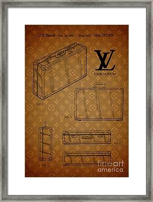 1986 Louis Vuitton Suitcase Patent 3 Framed Print by Nishanth Gopinathan