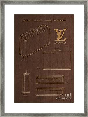 1986 Louis Vuitton Suitcase Patent 4 Framed Print