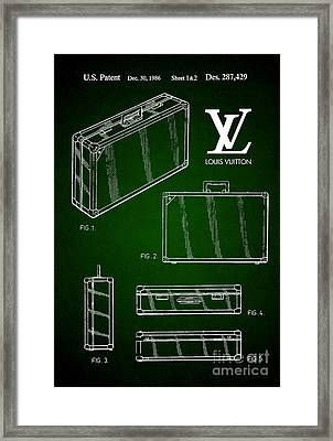 1986 Louis Vuitton Suitcase Patent 5 Framed Print