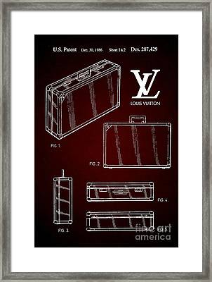 1986 Louis Vuitton Suitcase Patent 6 Framed Print by Nishanth Gopinathan