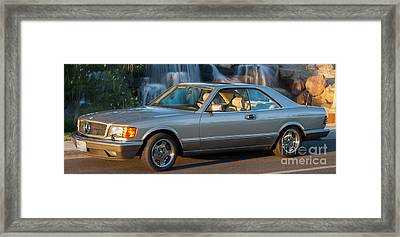 1986 Mercedes 560 Sec Framed Print by Gunter Nezhoda