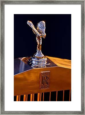 1986 Rolls-royce Hood Ornament Framed Print by Jill Reger
