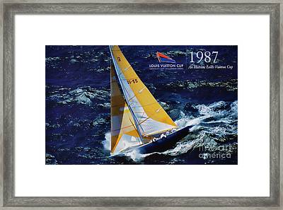 1987 America's Cup History  Framed Print