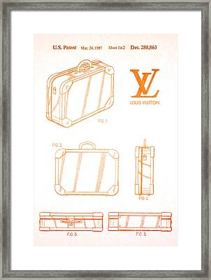 1987 Louis Vuitton Suitcase Patent 2 Framed Print