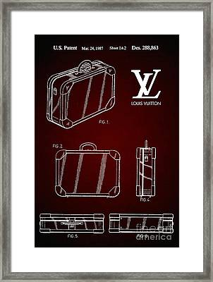1987 Louis Vuitton Suitcase Patent 6 Framed Print
