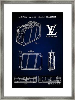 1987 Louis Vuitton Suitcase Patent 7 Framed Print