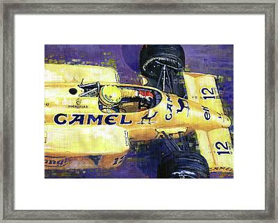 1987 Spa Francorchamps Lotus 99t Ayrton Senna Framed Print