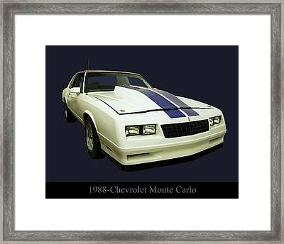 1988 Chevy Monte Carlo Framed Print by Chris Flees