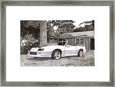 1989 Camaro R S Convertible Framed Print by Jack Pumphrey