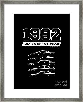 1992 Was A Great Year Silhouettehistory Framed Print