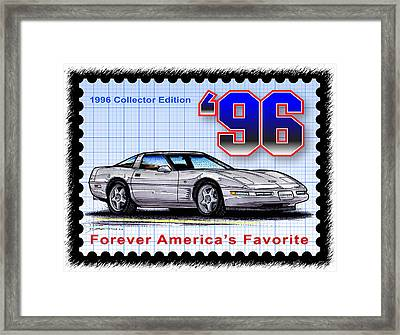 1996 Collector Edition Corvette Framed Print