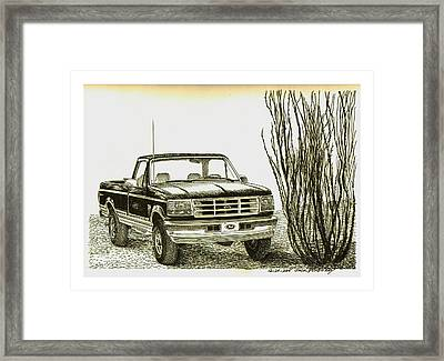 1996 Ford Pick Up Ocatillo  Framed Print by Jack Pumphrey