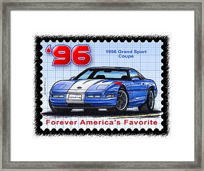 1996 Grand Sport Corvette Framed Print